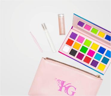 Makeup bag with mirror